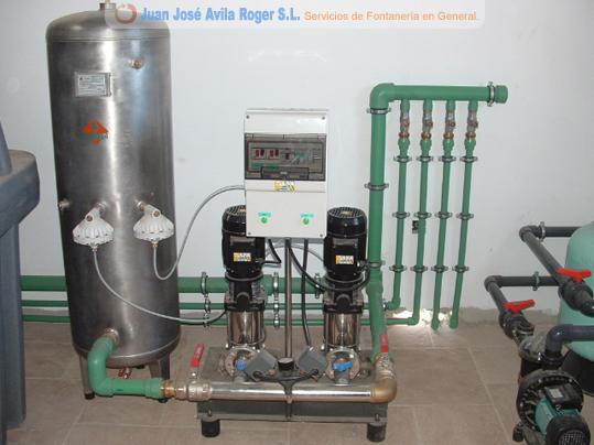 Fontanero juan jose avila roger servicios de fontaner a for Grupo de presion de agua para edificios